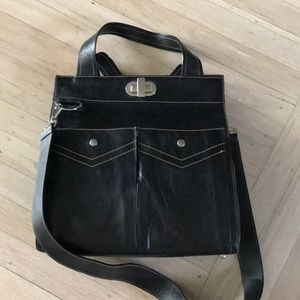 Cute BCBG black shoulder bag and tote